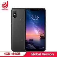 "Global Version Xiaomi Redmi Note 6 Pro 4GB 64GB 6.26"" 19:9 Full Screen 2 Front+ 2 Back Cameras Quick Charge Octa Core Smartphone"