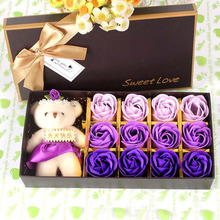 Valentine's Day gift rose soap flower gift box creative promotion small gifts imitation flowers(China)
