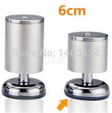 1 Pair 6cm Aluminum cabinet leg / sofa leg with silicon base Furniture Caster(China)