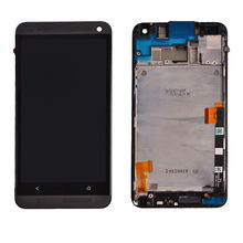 For HTC ONE M7 LCD Touch Screen Digitizer for HTC M7 801E display assembly Frame Replacement Pantalla + Tools