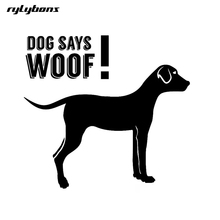 rylybons 1pcs car sticker funny animal Dog Says Woof 14*14cm car-styling vinyl full body car stickers and decals for Ford Toyota