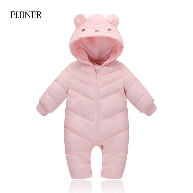 Baby Girl Winter Clothes 2017 New Warm Baby Boy Winter Clothes Snowsuit Winter Overalls Newborn baby Winter Jumpsuit Romper