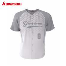 Kawasaki Unisex Custom Polyester Breathable Baseball jersey Mens Top Youth Collage Honey Comb Hip Pop Style Softball Shirt(China)