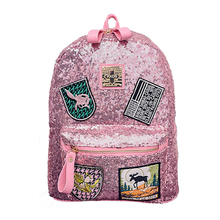 Famous Brand Designer Women Bling Bling Backpacks Fashion Sequins Backpack Preppy Style Girl's School Bags W516