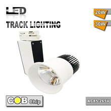 Wholesale Black add white body AC85-265V 30w COB LED Track lamp For Store Muzeum And clothing shop led spot track lighting