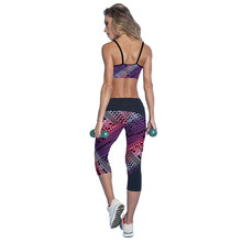 2017 Quick Drying Trousers Yoga Sport Pants Printed Cropped Women Sports Leggings Fitness Yoga Pants popular