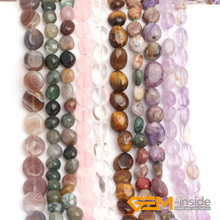 6x8mm Potato Shape Natural Stone Beads For Jewelry Making :Rose Quarts,Amethy,Citrin e,Strand  15 Inches Wholesale !