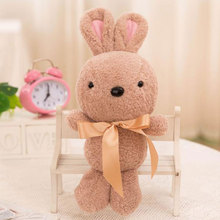2017 New Baby Soft Plush Toys Lovely Rabbit Appease Doll Baby Dolls Hold Muppet Toys 32cm Girls Gifts(China)