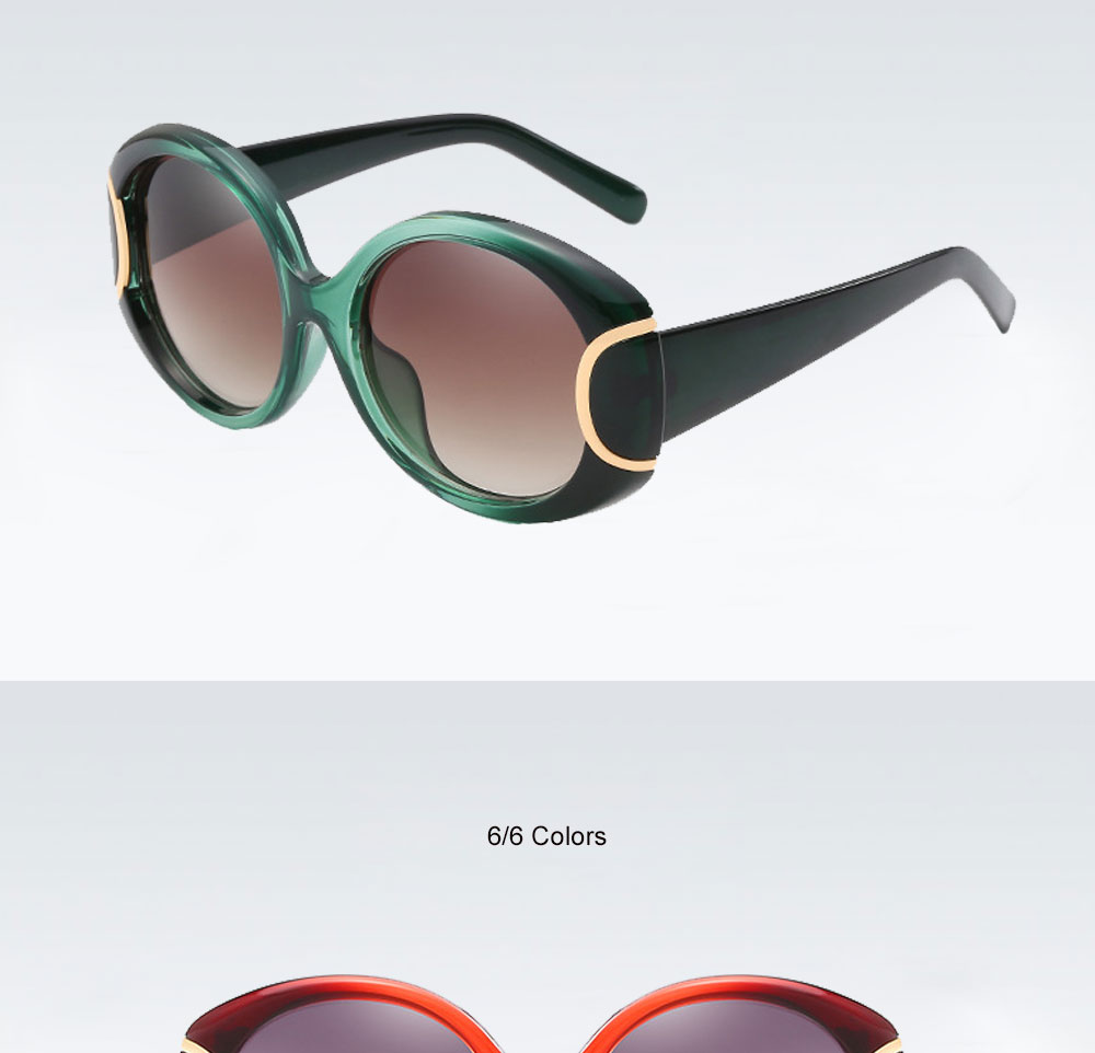 VEGA Eyewear Fashion Oval Sunglasses Women for Big Face Ladies Oversized Glasses with  ( (10)