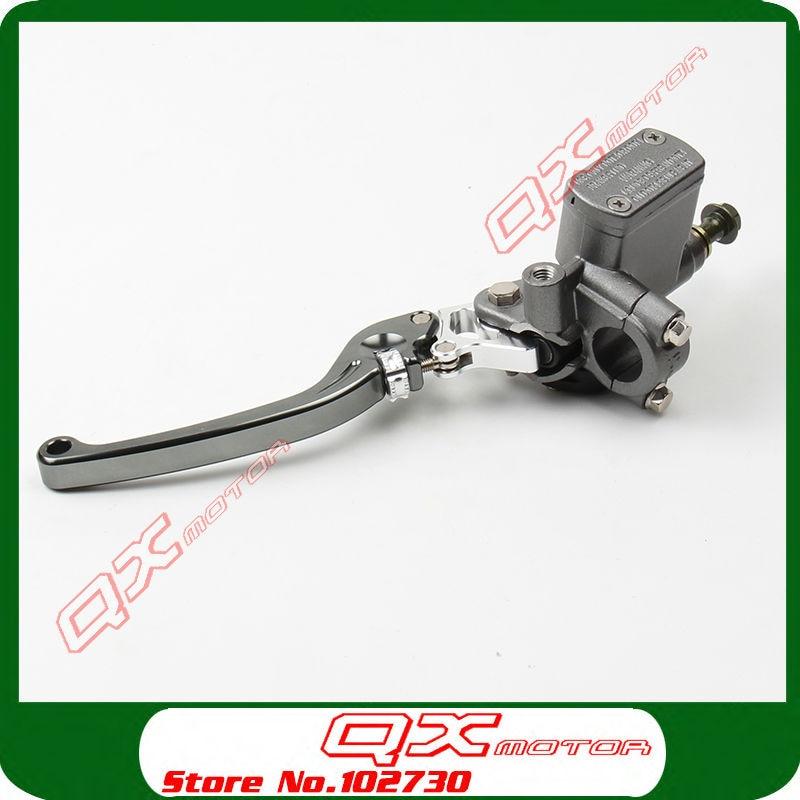 High Quality CNC Left Brake Pump brake master cylinder pump For Dirt Pit Bike ATV Quad scooter Off Road Motorcycle Free shipping<br>
