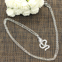 New Fashion Necklace cobra snake 35*19mm Silver Pendants Short Long Women Men Colar Gift Jewelry Choker(China)
