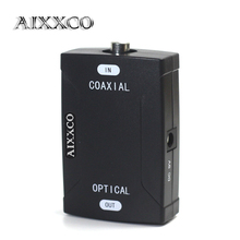 AIXXCO Coaxial RCA input To Optical Toslink Output Jack Digital Audio Converter Adapter to Transform Audio Format(China)