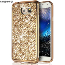 Fashion Glitter Bling Case for Samsung Galaxy S7 edge S6 S5 Neo S4 Mini S8 Plus A3 A5 2017 J1 J3 J5 J7 2016 Grand Prime G531 530(China)