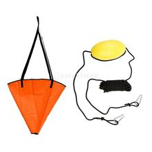 32'' PVC Sea Anchor Drogue Sock Fits 20' Sail Boat/Power Boat/Inflatable Boat/Jet Ski  + 30' Kayak Drift Tow Rope Anchor Float