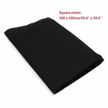 Fabric Black Air Conditioner Activated Carbon HEPA Air Purifiers Accessories Purifier Pre Filter Fabric 1m*1m Thickness 5mm