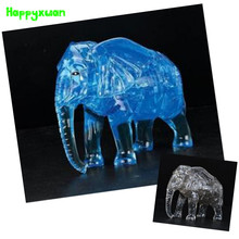 Happyxuan DIY 3D Jigsaw Crystal Puzzle Plastic Elephant 41pcs Home Decoration Birthday Gift for Children