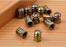 1000PCS/Lot Zinc expansion Connecting Nut anchor tube Plug furniture Cabinet  fittings screw bolt nuts 3 in 1