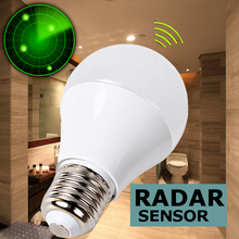 LED Bulb E27 Radar Sensor Light Bulbs With Motion Sensor Detector Bombillas Leds Lamp Lampada 9W AC 110v 220v(China)
