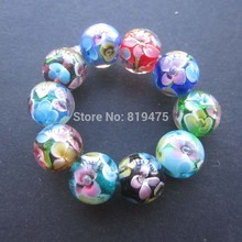 10Pcs 10mm 12mm 14MM Handmade Glass lampwork beads Flower Beads mix Color for jewelry making Wholesale and Retail(China)