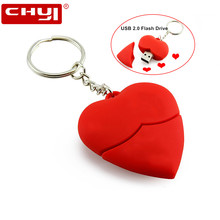 USB Flash Drive Pen Drive Love Heart Shape Pendrive 4GB 8GB 16GB 32GB 64GB Memory USB Stick 2.0 Flash Drive Disk for Girls Gift(China)