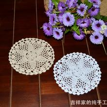 Free shipping 2015 new arrival table ware 12 pic/lot cotton lace felt  crochet  coasters doilies as tea cup mat wedding decora