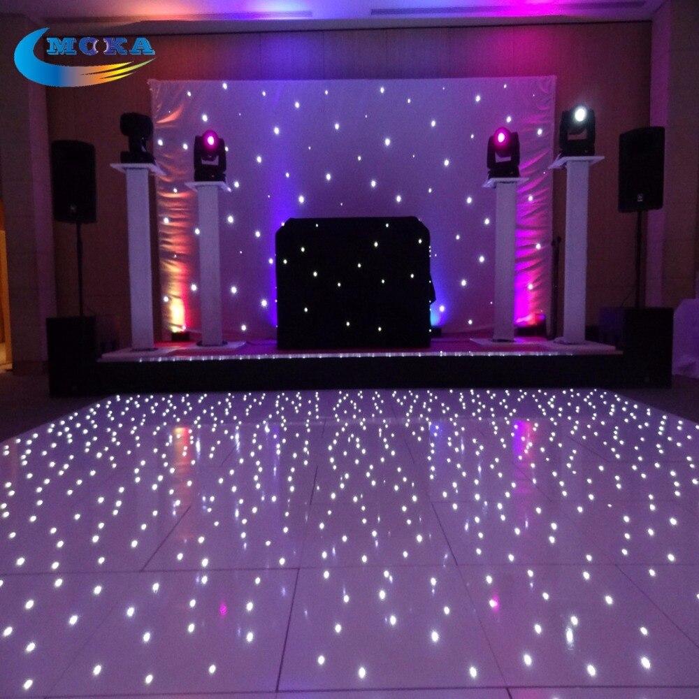 14X14 Feet Sensitive Led Dance Floors Led Disco Floor Lights With Flight Case<br>