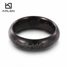 Cheap Fashion Jewelry Made In China Black Color Stainless Steel Rings For Men New Model Men's Rings Wholesale Engagement Rings(China)