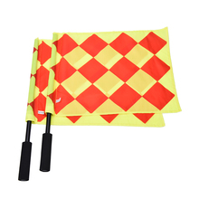 NEW Soccer Referee Flag The World Cup Fair Play Sports Match Football Linesman Flags Referee Equipment + Carry Bag(China)