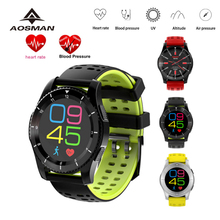 AOSMAN Heart Rate GPS altimeter Sport Smart Watch phone clock SIM Call SMS Reminder Blood Pressure UV detection Smartwatch