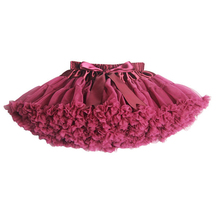 New 2014 Hot 4 Colors Vintage Silver gray/Wine/Navy blue/Dusty Pink Baby Girl Fluffy Pettiskirt Girls Tutu Skirt Kids Petticoat(China)