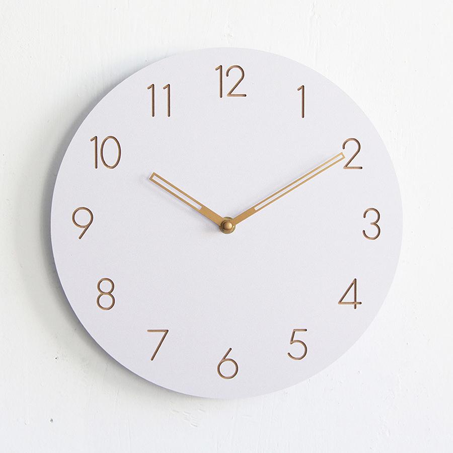 Größe: 30cm / 12 Zoll Durchmesser Stil: Einfacher, Moderner Stil Motivtyp:  Quarz / Silent Material: Holz Anzeigetyp: Nadel Form: Einzelnes Gesicht
