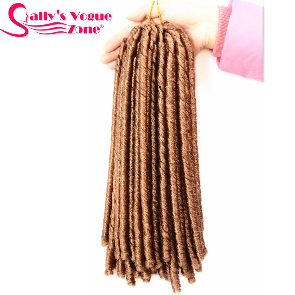 24 Roots Faux LocsCrochet Hair 18 Crochet Faux Lock Dreadlock Crochet Braids hair Extensions Synthetic Braiding hair Soft lock (159)_