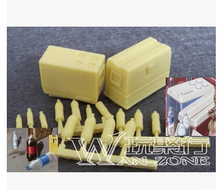 1/35 WW2 soldier Scene model accessories WWII Resin Model of Refrigerator and bottle(China)