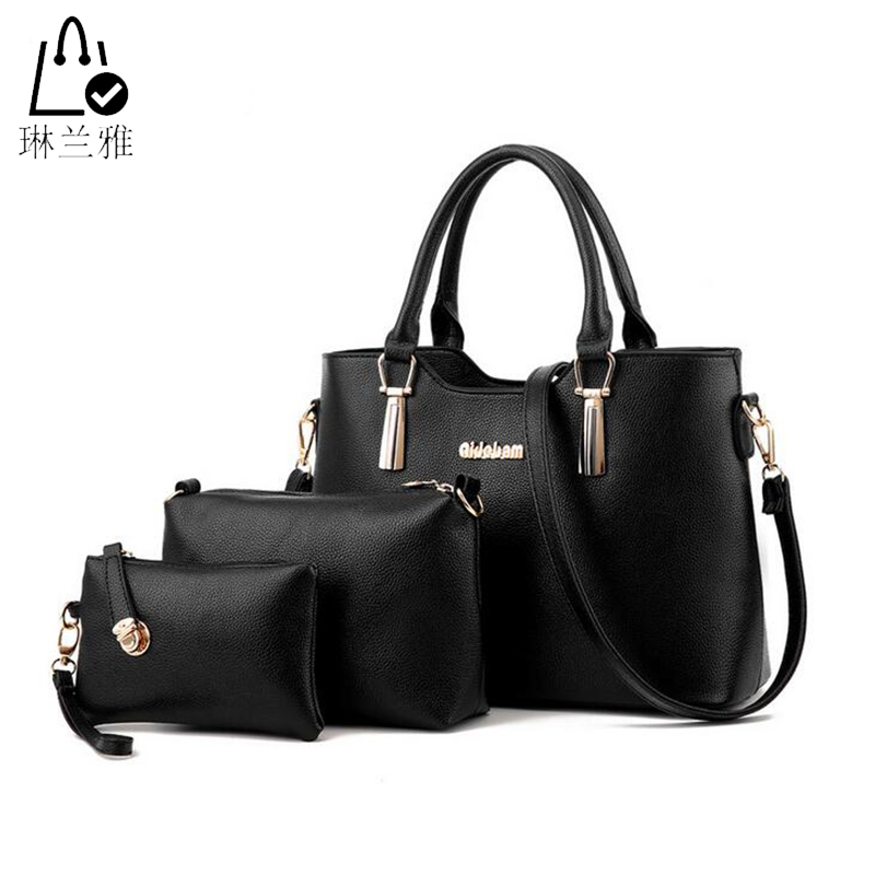 LINLANYA 3 pcs/set Fashion Shoulder bag Elegant Women Messenger bag PU Leather Casual Tote bags Purse Pocket Composite bag Y-K20<br><br>Aliexpress