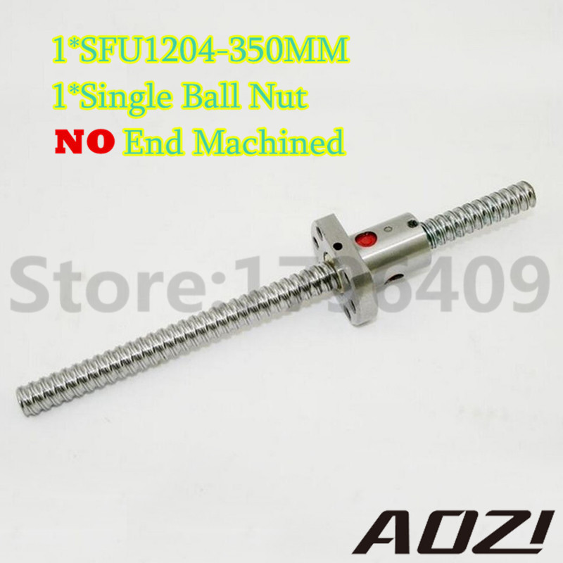 C7 Rolled Ballscrew RM1204 350mm Total Long For CNC Parts With RM1204 Single Ballnut Free Shipping<br>