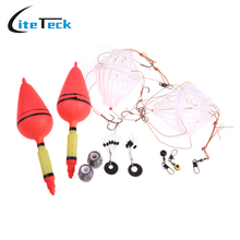 NEW Silver Carp Fishing Float Bobber Sea Monster with Six Strong Explosion Hooks Two Fishing Tackle Sets with Box