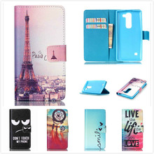 Luxury Top Quality Flip PU Leather Phone Case For LG Spirit 4G LTE H440N H440Y Wallet Stand Cover Cases With Card Holder(China)