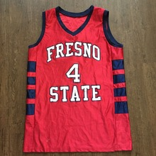 Vintage Fresno State Bulldogs Greg Smith #4 Red College Basketball Jersey Embroidery Stitched Custom any Number and name