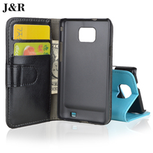 For Samsung Galaxy S II Case Wallet Flip Leather Cover For Samsung Galaxy S2 SII I9100 GT-i9100 Protective Phone Bags & Cases(China)