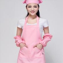 Hot 2015 Women Men Apron Korean Waiter Aprons With Pockets Restaurant Kitchen Cooking Shop Art Work Apron