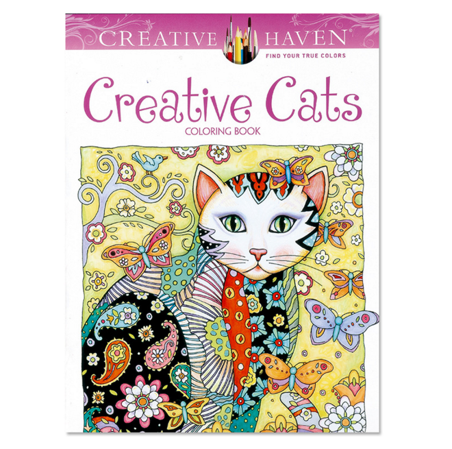 1Pcs/set Cute Haven Creative Cats Coloring Books For Adults 24pages Stress Relieving Antistress Coloring Book Adult Books(China)
