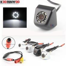 Koorinwoo CCD HD Video Car Rear view Camera Front Camera 8 led Light Night vision Parking System Black/white Reverse for safe(China)