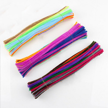 100pcs/lot Montessori Materials Math Chenille Sticks Puzzle Craft Children Kid Pipe Cleaner Educational Stems Craft Creative Toy