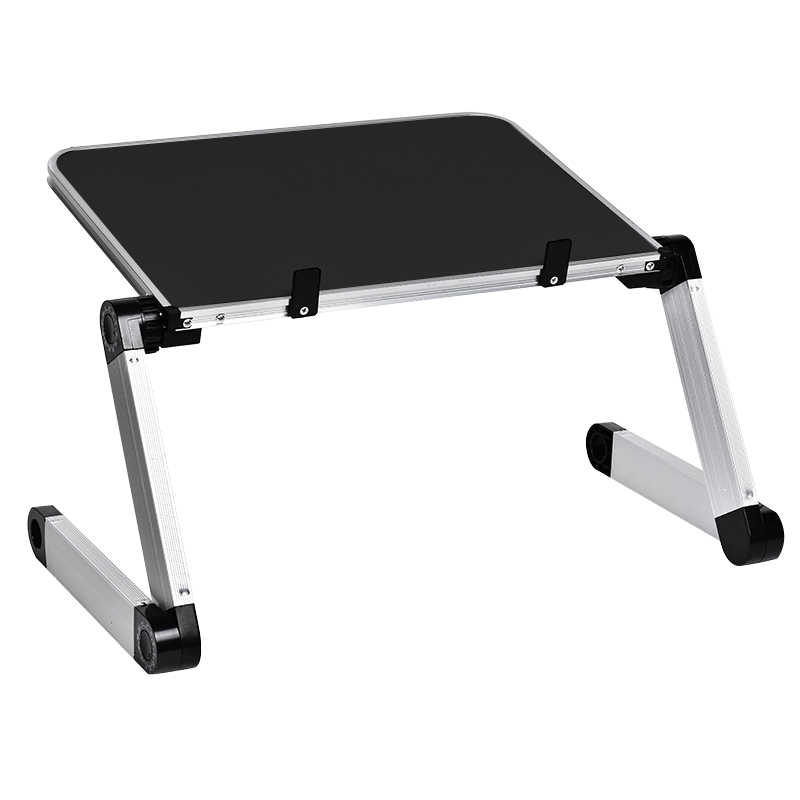 Aluminum Alloy Laptop Portable Foldable Adjustable Laptop Desk Computer Table Stand Tray Notebook Lap PC Folding Desk Table(China)