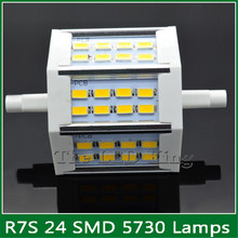 Super Bright dimmable R7S 5730SMD led light 118mm 30w 78mm 15w R7S led lamp J78 J118 R7S perfect replace halogen lamp AC85-265V