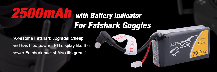 Lipo Battery for Fatshark Goggles