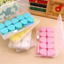 10 pcs/Sets Plastic Travel Care Contact Lens Holder Storage Soaking Box Cases Holder Container Kit Organizer Y13