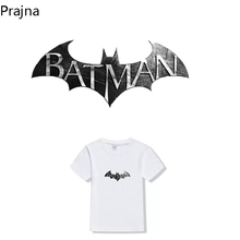 Prajna Batman Thermal Iron On Transfers For T Shirt Fabric Custom Hot Paper Vinyl Heat Transfers For Clothes Stickers Patch DIY