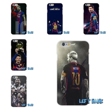 Fundas Barcelona FC Messi Soft Silicone TPU Transparent Phone Cover Case For iPhone 4 4S 5 5S 5C SE 6 6S 7 Plus