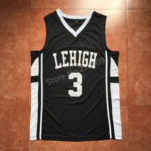#3 CJ McCollum Lehigh Mountain Hawks College Throwback Basketball Jersey Stitched any Number and name(China)
